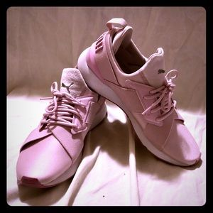 Pink Puma sneakers size 9
